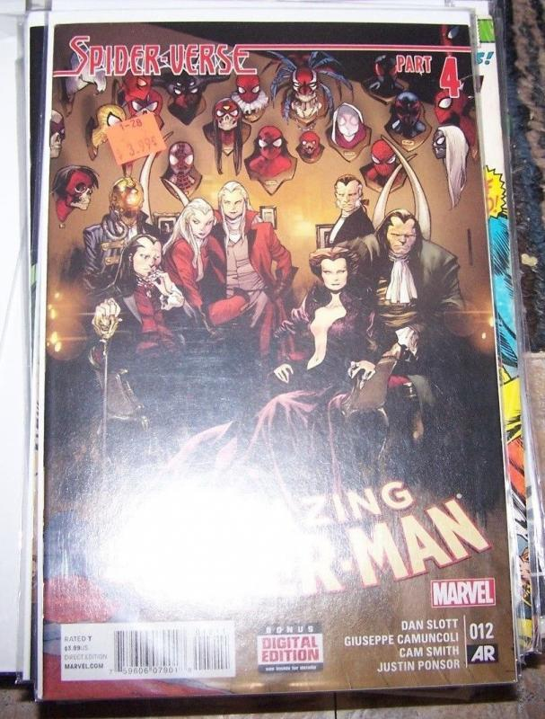 Amazing Spider-Man #12 (March 2015, Marvel) spider verse pt 4 morlun silk spider