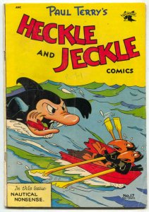 Heckle and Jeckle #17 1954-Shark cover- Funny Animal VG