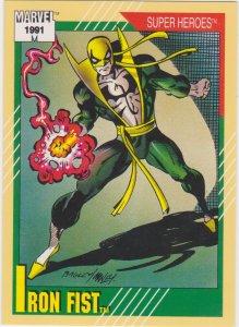 1991 Marvel Universe #28 Iron Fist