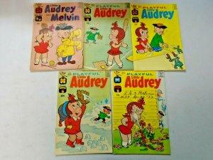 Silver Age Harvey Little Audrey Comic Lot 9 Different 4.0 VG