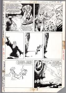 SAGA OF CRYSTAR, CRYSTAL WARRIOR #5-1984-Ricardo Villamonte-ORIGINAL ART pg 30-