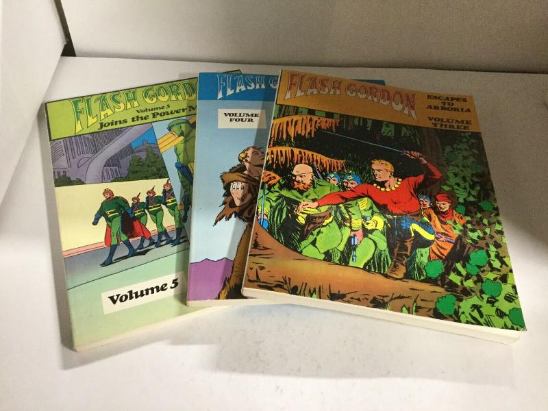 Flash Gordon Volume 3 4 5 Nostalgia Press Oversized Sc Softcover B16