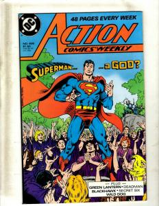 10 Action Comics DC Comic Books #606 607 608 662 674 675 680 682 684 685 JF12