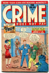 CRIME DOES NOT PAY #60-CHARLES BIRO-TERROR-JESSE JAMES FR
