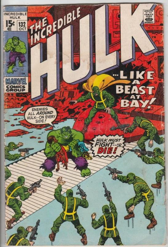 Incredible Hulk #132 (Oct-70) VG Affordable-Grade Hulk