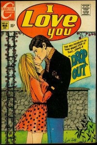 I Love You #84 1970- Charlton Romance- Drop Out VF