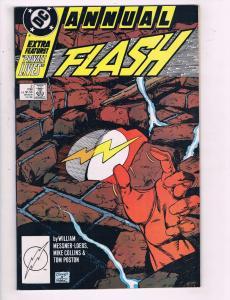 Flash Annual #2 VF DC Comics Copper Age Comic Book Messner 1988 DE12