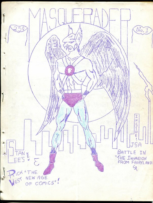 Masquerader #1 1962-Mike Vosburg-1st issue-Hawkman cover-JSA & JLA features-G-