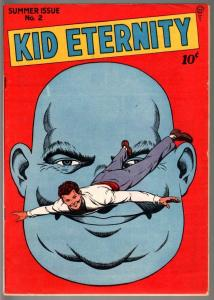 KID ETERNITY #2-1946-CLASSIC COVER-ABE LINCOLN-GOLDEN AGE COMIC-VF VF