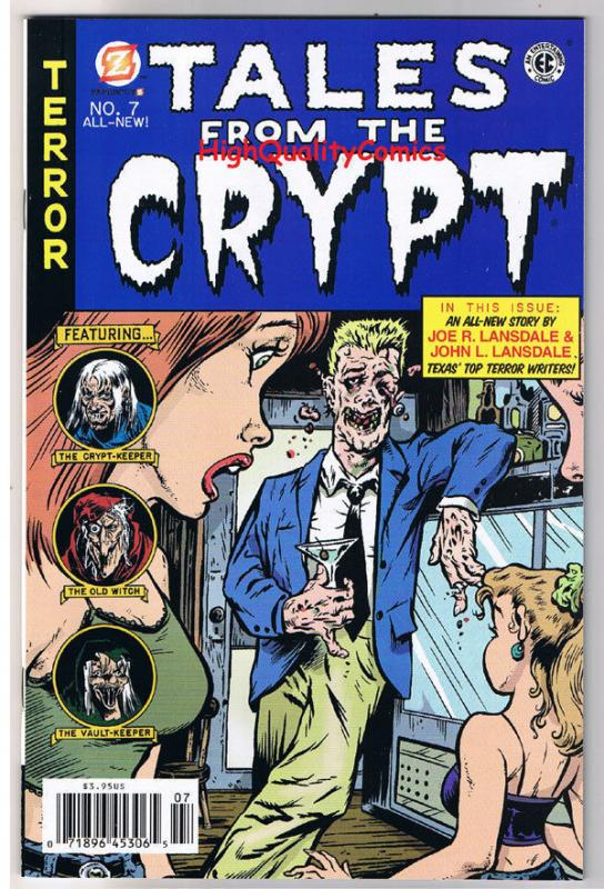 TALES from the CRYPT 7, VF+, Joe Lansdale, Horror, 2008, Rick Parker, indie