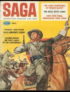 SAGA MAGAZINE DEC 1958-JACK LONDON-ROLLS ROYCE-SAUNDERS FN