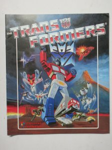 Transformers Panini Sticker Album Book 1986 Hasbro BLANK NO STICKERS