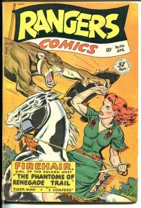 Rangers #46 1949-Fiction House-Firehair-Tiger Man-Davy Crockett-G-