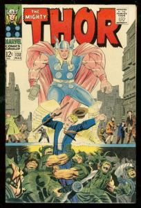 MIGHTY THOR #138 1967-MARVEL COMICS-WILD COVER-KIRBY FN/VF