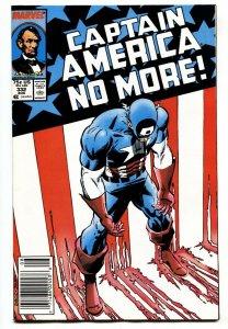 Captain America #332 comic book 1987-Steve Rogers resigns Newsstand