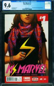 Ms. Marvel #1 CGC 9.6-2014-1st issue-2006596012