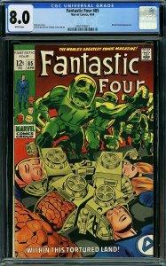 Fantastic Four #85 (Marvel, 1969) CGC 8.0