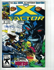 X-Factor #75 VF signed Larry Stroman Marvel   save on shipping - details inside