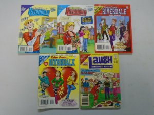 Archie Riverdale Digests lot 5 different issues avg 8.0 VF