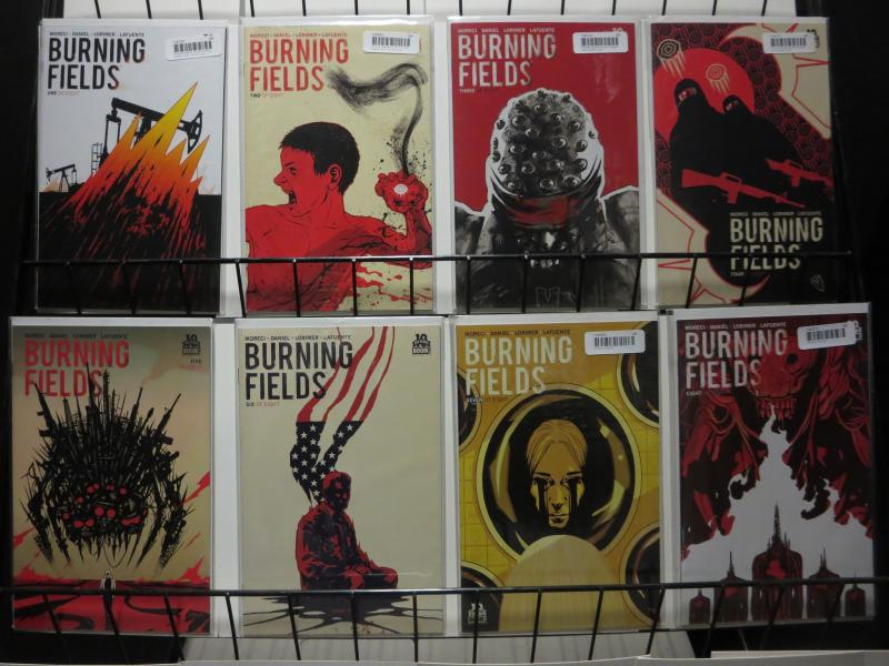 BURNING FIELDS (2015 BOOM) 1-8 Moreci, Daniel & Lorimer COMICS BOOK