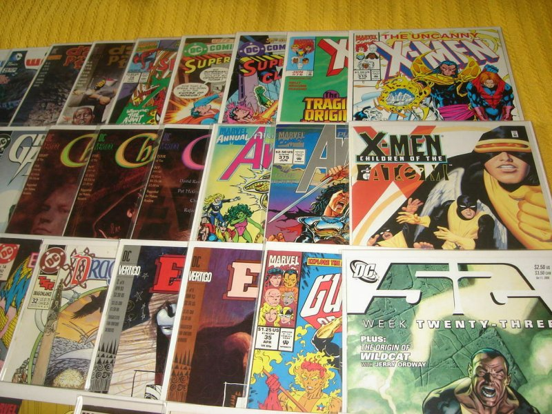 Lot of 45 Marvel & DC Bronze-Modern Comic Books, Bagged & Boarded, No Dupes, L4