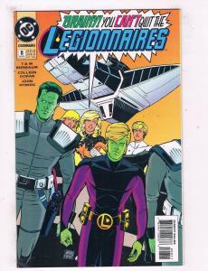 Legionnaires #8 VF/NM DC Comics Comic Book JLA Braniac 5 Nov 1993 DE43 TW14