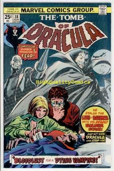 TOMB of DRACULA #38, FN+, Vampire, Undead, Wolfman, 1972, more ToD in store