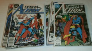 Action Comics #584-600, Annual #1 100% complete set Byrne Demon Teen Titans