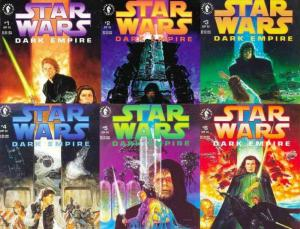 STAR WARS DARK EMPIRE  1-6 ALL 1ST PRINTINGS!  COMPLETE