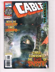 Cable Annual 99 #1 VF Marvel Comics Comic Book X-Men Cyclops April DE22