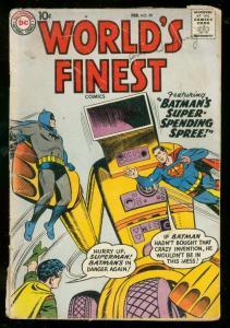 WORLDS FINEST COMICS #99 1959-BATMAN-SUPERMAN-ROBOT VG-