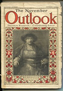 Outlook 10/23/1909-Rembrandt article & cover-100 + years old-VG