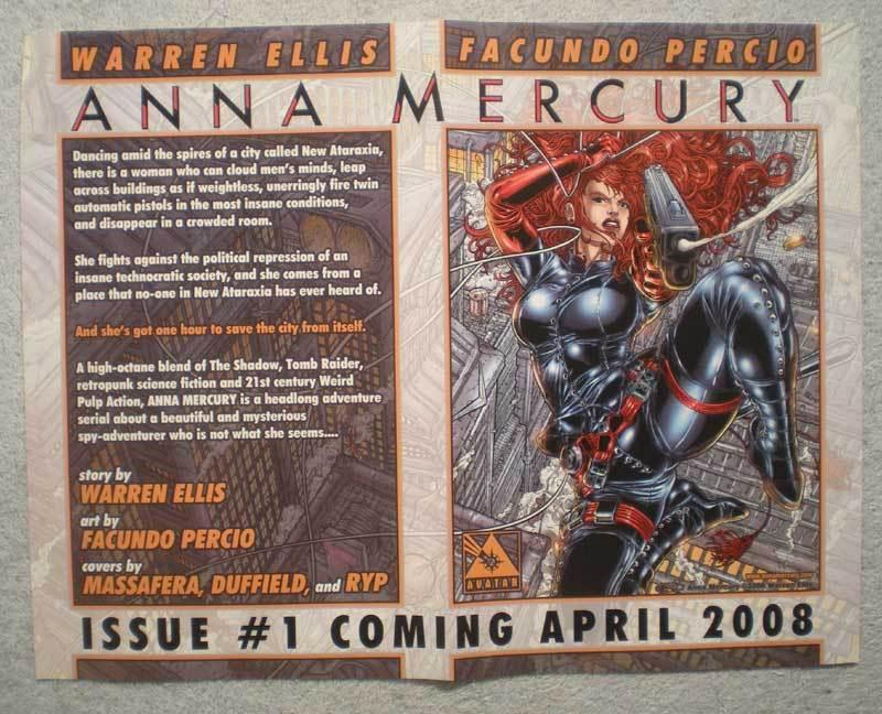 ANNA MERCURY Promo Poster, Femme, 13x10, 2008, Unused, more Promos in store