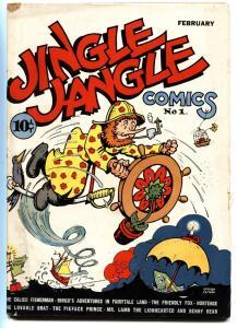 JINGLE JANGLE COMICS #1 1942-Golden-Age GEORGE CARLSON