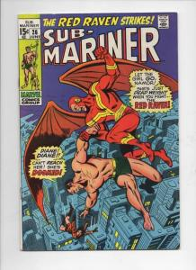 SUB-MARINER #26, VF, Buscema, Red Raven, 1968 1970, more in store