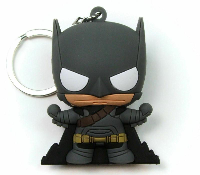 Batman v Superman BVS Armored Batman Laser Cut Key Ring / Keychain - New!