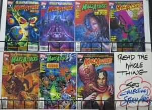 MARS ATTACKS VOL. 2 COMPLETE! (Topps, 1995) #1-7 Keith Giffen invades earth!