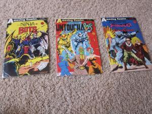 Amazing Comics Premiers Ninja Bots Untouchabots #1 #2 #3 VF/NM (9.0) (552J)