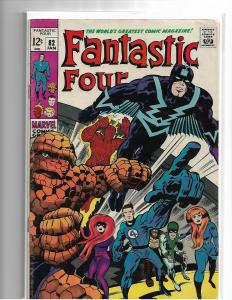 FANTASTIC FOUR 82 - G/VG - INHUMANS - LOW GRADE SILVER AGE CLASSIC ISSUE
