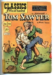 CLASSICS ILLUSTRATED #50-HRN 51-ADVENTURES OF TOM SAWYER-CLEMENS-G
