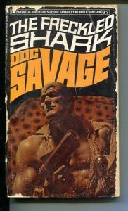 DOC SAVAGE-THE FRECKLED SHARK-#67-ROBESON-G-JAMES BAMA COVER-1ST EDITION G