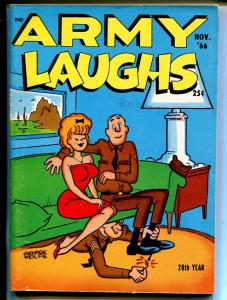 Army Laughs 11/1966-military cartoons, jokes, comic strips-hot foot-Wolfe-FN
