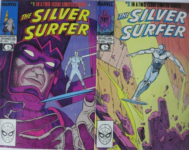 SILVER SURFER (1988 MINI) 1-2 MOEBIUS/STAN LEE;COMPLETE