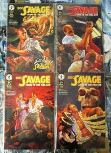 DOC SAVAGE CURSE OF THE FIRE GOD (1995 DH) 1-4 complete