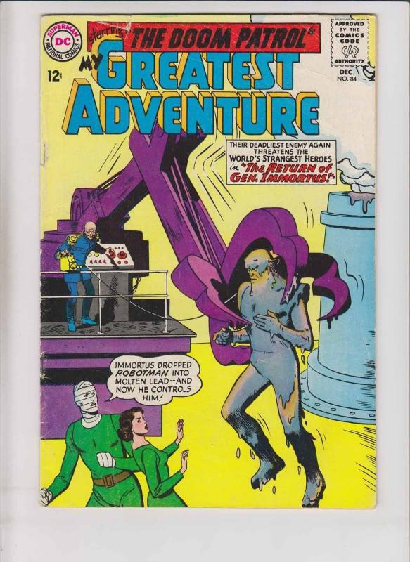 My Greatest Adventure #84 GD/VG december 1963 - 5th appearance doom patrol - dc