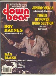 Down Beat 2/1980-Tower of Power Horns-Junior Wells-pix-music history-VG