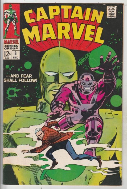 Captain Marvel #8 (Dec-68) FN/VF Mid-High-Grade Captain Marvel