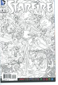 Starfire 8  B&W Coloring Book Variant Cover   9.0 (our highest grade)