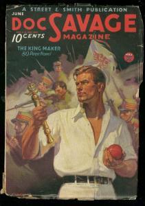 DOC SAVAGE JUNE 1934-KING MAKER-PULP-BAUMHOFER- S & S VG