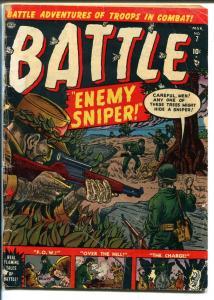 Battle #7 1952-Atlas-Joe Maneely-Al Hartley-POW story-Nazi sniper-G